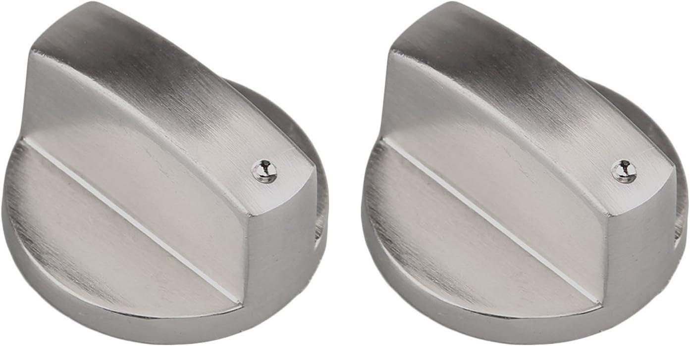 2pcs Metal 6mm Universal Silver Gas Estufa Control Perillas Adaptadores Horno Rotativo Interruptor Cocinando Control De Superficie Cerraduras