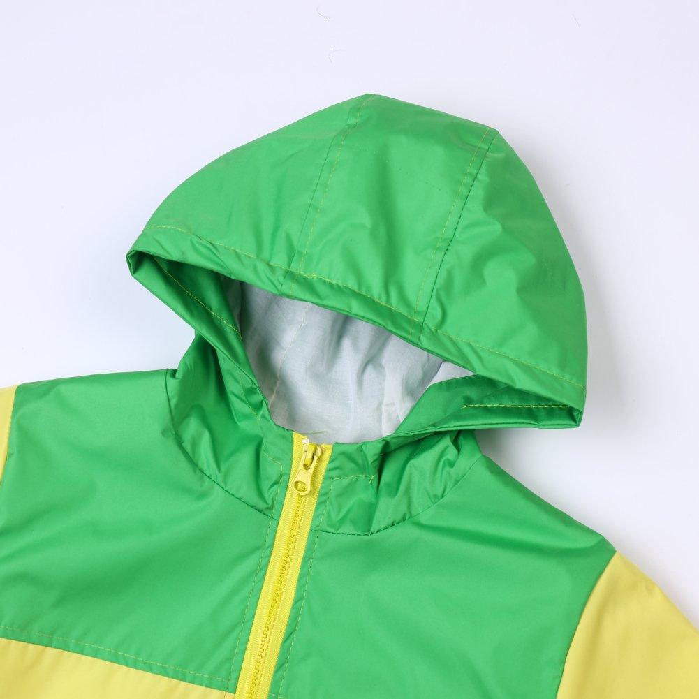 74b9a8e5f77e Boys Waterproof Raincoat Jacket Spring Autumn Outerwear Hooded ...