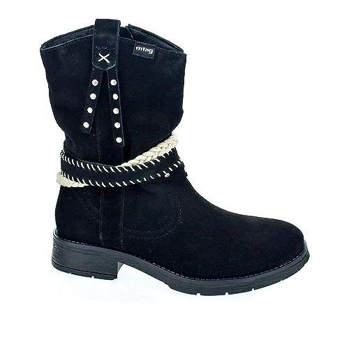 Mustang 47421 - Botines Niña Negro Talla 37: Amazon.es: Zapatos y complementos