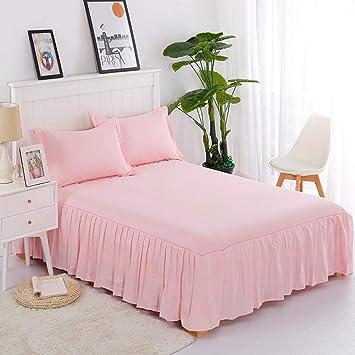 Pink Bed Skirt Queen.Amazon Com Berteri Solid Bed Skirt 100 Cotton Dustproof