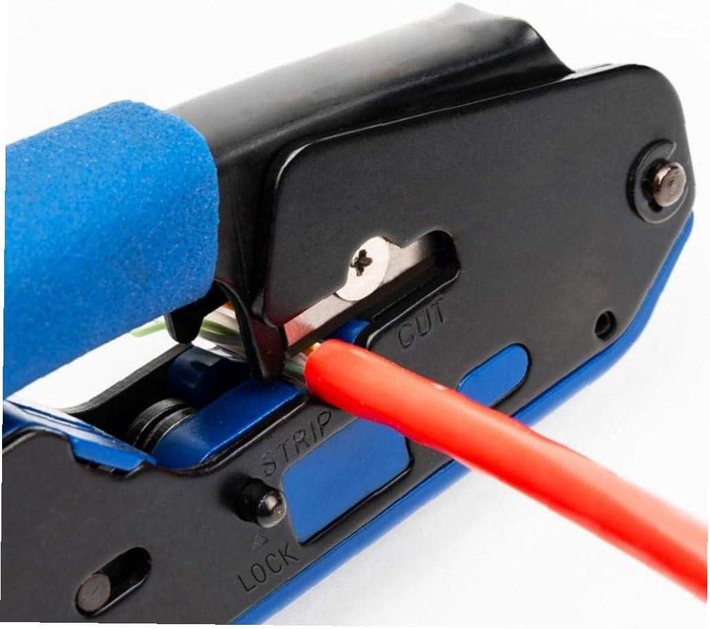 Rj45-Tool Netzwerk Crimper Kabel Stripping Zange Stripper f/ür RJ45 CAT6 Cat5E Cat5 Rj11 RJ12-Stecker