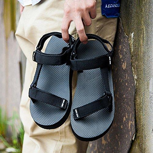 Sandals MAZHONG Couples Non-slip Beach Shoes Outer Casual (Color : Black-EU37/UK4.5-5/CN37) Black-eu36/Uk4/Cn36 pcn8s