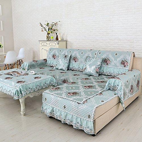 Sofa cushions,fabric four seasons universal non-slip cushion, simple and modern sofa sets-G 90x160cm(35x63inch) by JIN Sofa mats