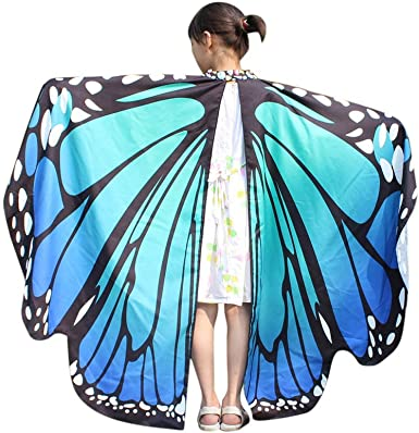 BaZhaHei Disfraz de Alas de Mariposa Mariposa Chal Hada ...