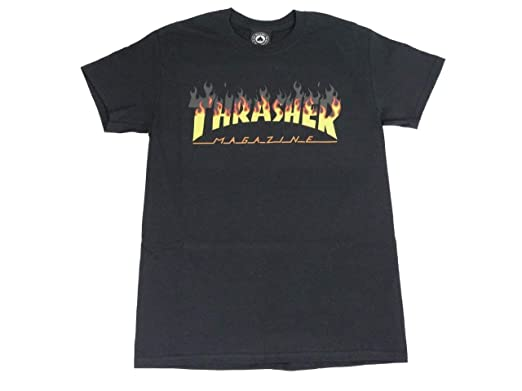 bed6e8df99 Thrasher Flame Logo BBQ T-Shirt (Black, Small)