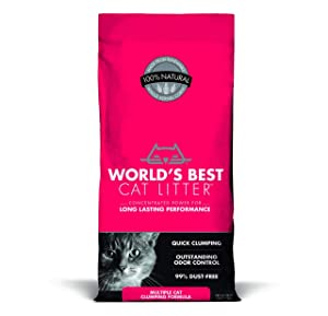PACK OF 3 - World's Best Cat Litter, 28 lb, Multiple Cat Clumping Formula
