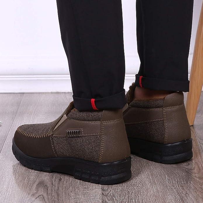 GongzhuMM Mocassins Homme Faux Suède Automne Hiver Chaussures de Ville  Chaussures de Travail d affaires Bottes en Cuir Basse pour Hommes 40-45 EU   ... e9c49377d05a