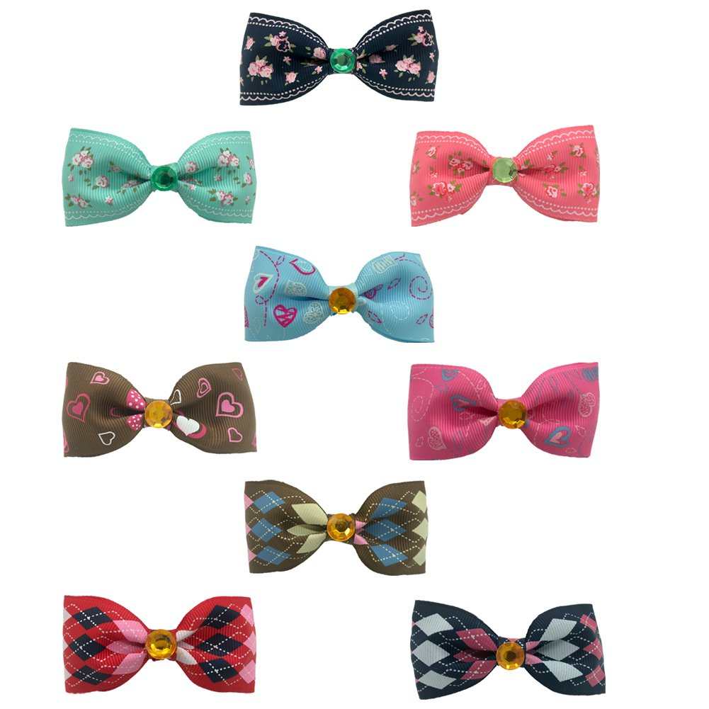 SW Cat Collar Pet Dog Breakaway Bow Tie Adjustable Small Collar Necktie Pet Supplies Accessories, Pink