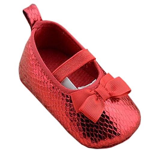 Waboats - Mocasines para niña, color Rojo, talla 3-6 Meses/M UK Niñito: Amazon.es: Zapatos y complementos
