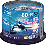 TDK Blu-ray Disc Recording for Hard Coating Specification Bd-r 25gb 1-6 Times Faster White Wide Printable Spindle 50 Brv25pwc50pa