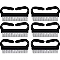 Minkissy 6pcs Manicure Pedicure Brush Fingernail Brushes Plastic Scrub Brush Large Size for Home Hand And Nail Cleaning Tool