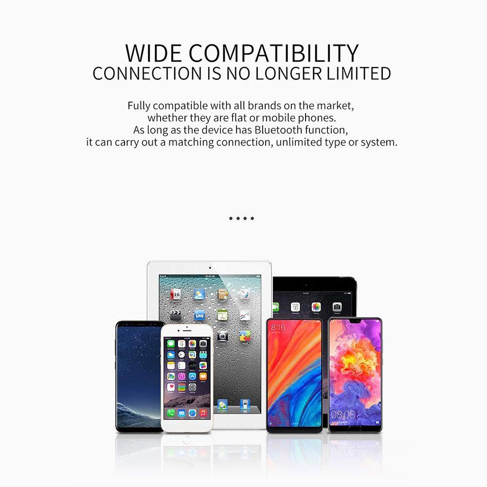 Jweal Auriculares Bluetooth inalámbrico, Mini Wireless Hidden Deportes Bluetooth 5.0 Cancelación de Ruido: Amazon.es: Electrónica