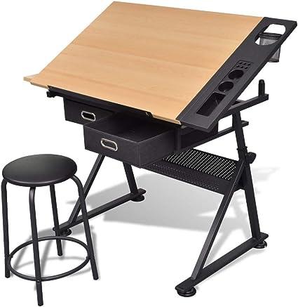 Mesa de dibujo y taburete | para Bellas Artes, clases de trabajo ...