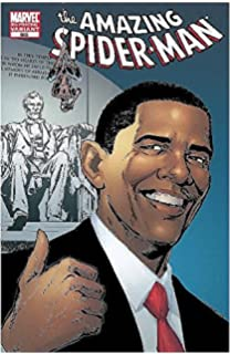 Barack obama the comic book biography jeff mariotte tom morgan barack obama amazing spider man 583 5th printing lincoln memorial variant cover sciox Image collections