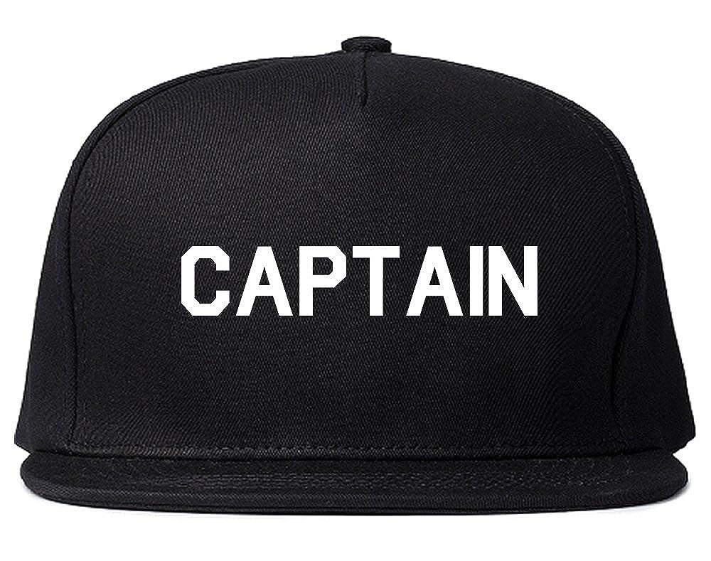 Captain Snapback Hat Cap Black at Amazon Men s Clothing store  ea36233c1ff