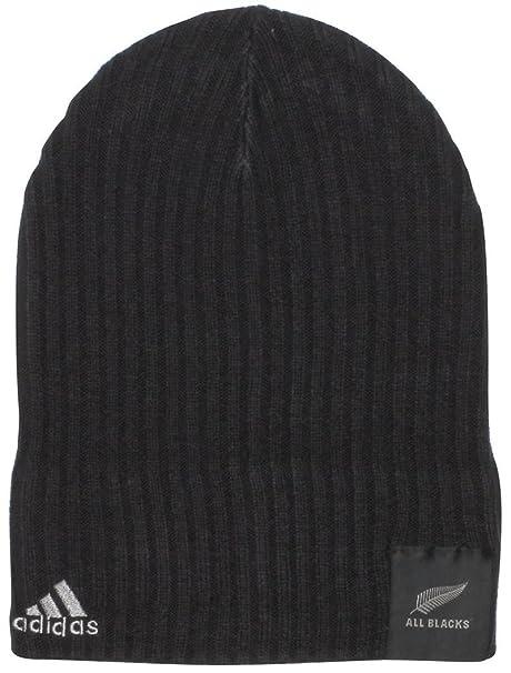 adidas all Blacks Nlle Zelanda - Berretto di Rugby in Maglia - Nero Grigio   Amazon.it  Abbigliamento 8111323a3f1f