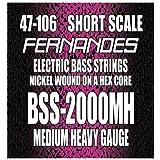 フェルナンデス ショートスケール用 日本製ベース弦 Medium Heavy Gauge BSS-2000MH ニッケルワウンド ミディアムヘビーゲージ