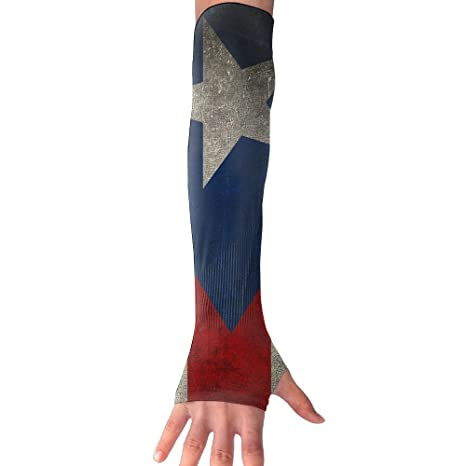 bf70556aaa Image Unavailable. Image not available for. Color: Puerto Rico Flag Vintage  Protection Cooler Arm Sleeves ...