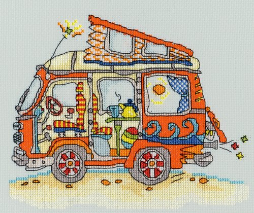Bothy Threads Sew Dinky VW Van Cross Stitch Kit by
