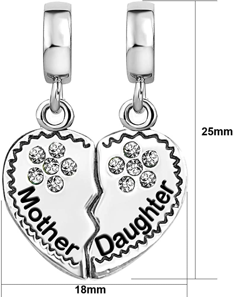 Unique Fashion Charms and Bracelets November Birthstone Crystal Girl Daughter Granddaughter Charm for Euro Bracelets