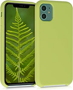 kwmobile TPU Silicone Case Compatible with Apple iPhone 11 - Soft Flexible Rubber Protective Cover - Matcha Green