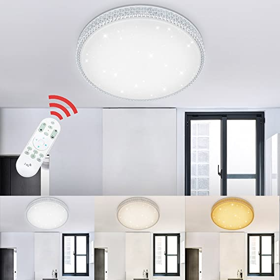 VINGO® 50W LED Deckenlampe Dimmbar Starlight-Effekt ...