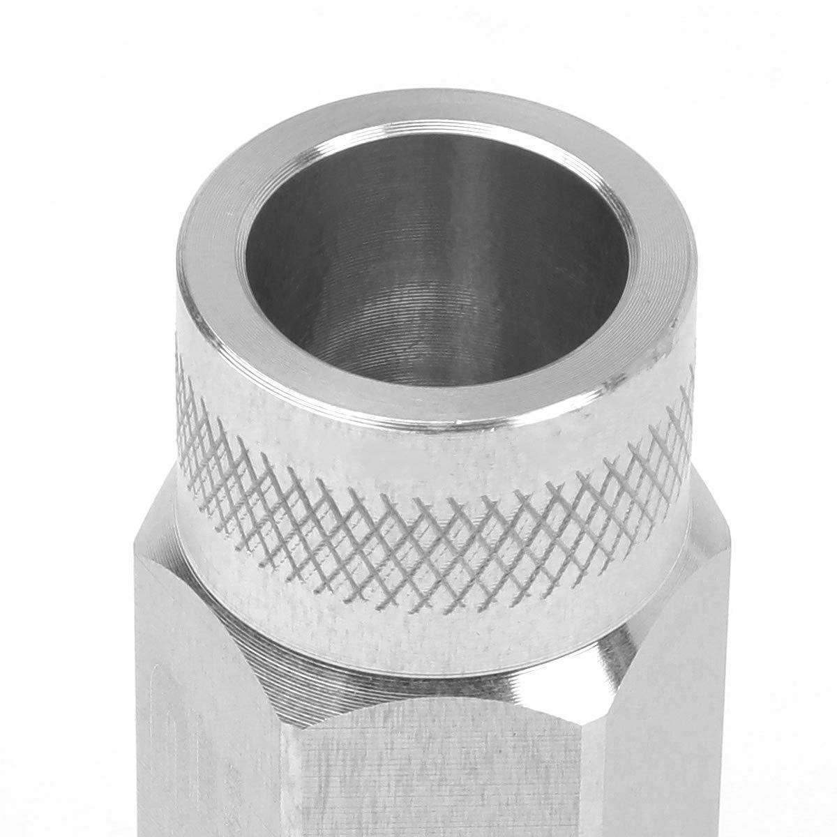 50mm Open End Lug Nut w//Socket Adapter DNA MOTORING LN-T7-014-15-RD Red J2 Engineering 7075 Aluminum M12X1.5 20Pcs L