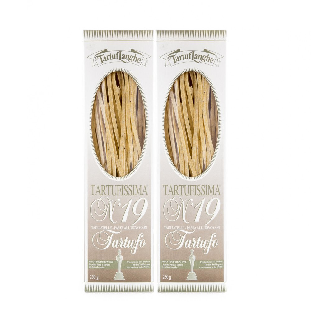 TartufLanghe - Tartufissima No. 19 Tagliatelle Truffle Pasta - Italian Dried Pasta with Truffle 8.81oz (250g) - Pack of 2 by