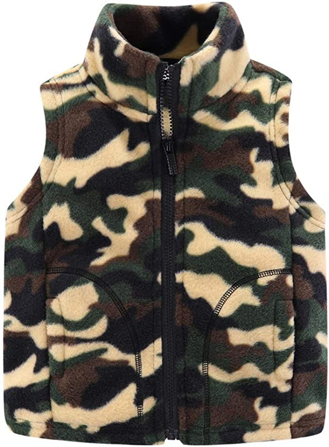 Mud Kingdom Boys Vest Fleece Solid Color