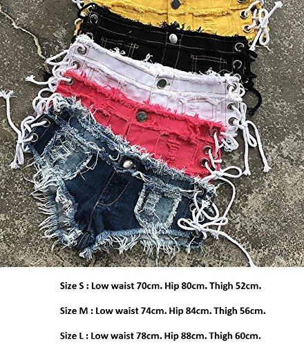 con White a bassa nappe in in nappa Mini sexy lacci con per vita pantaloncini denim ZhuXin in shorts pizzo le di jeans donne 6nwxBqAwZ