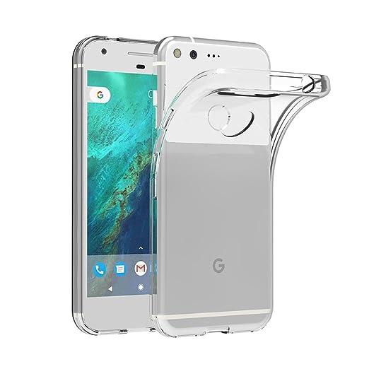 "2 opinioni per Cover per Google Pixel, AICEK Cover Google Pixel 5"" Silicone Case Molle di TPU"