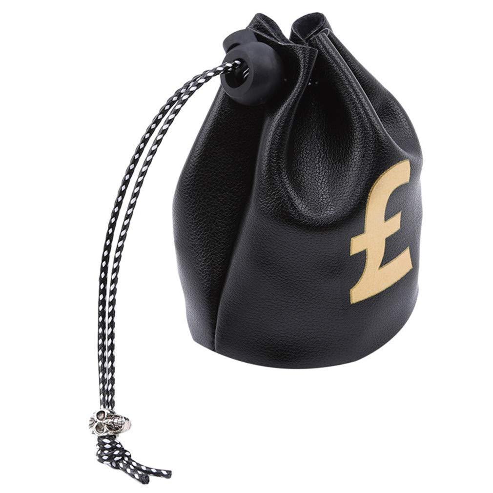Bolsa de Tela para Dinero con s/ímbolo de Moneda y Signo de d/ólar LightBlue tama/ño As The Description Color Black Dollar