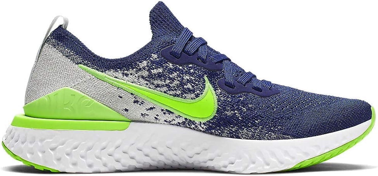 Nike Epic React Flyknit 2 (gs) Niños CK1689-400, Azul (Coastal Blue/Electric Green-ghost Aqua), 37 EU: Amazon.es: Zapatos y complementos