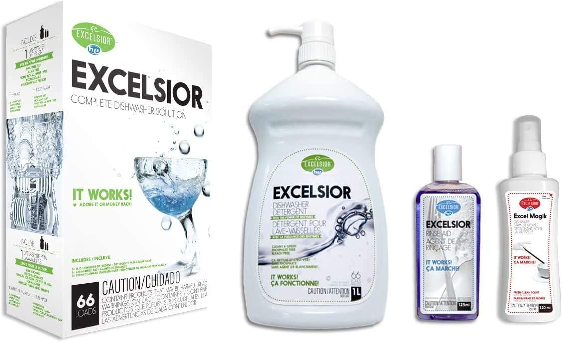 Excelsior HEDISH1LWMGK-U Complete Diswasher Cleaning and Deoderizing Solution