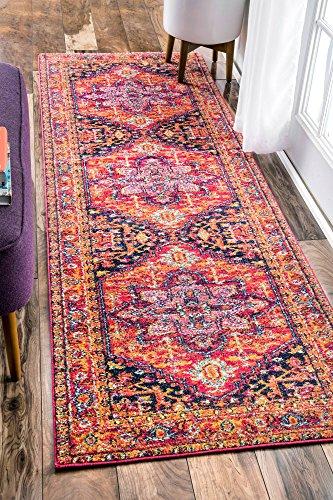 8 Inch Persian Rug - nuLOOM Persian Vonda Runner Rug, 2' 8