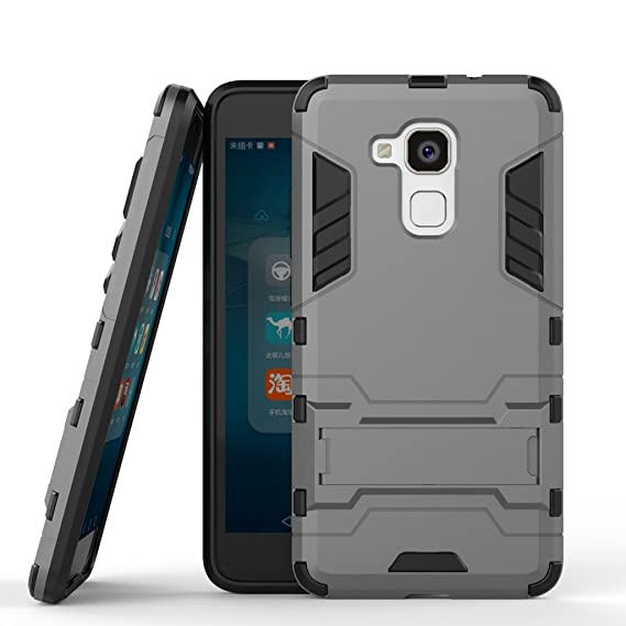 watch 1cc37 205ca For Huawei Honor 5c Case, Ougger Extreme Protection Shock Absorption  [Kickstand] Armor Cover Tough PC + Soft TPU Cushion Rubber 2in1 Back Gear  Rear ...