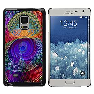 Paccase / SLIM PC / Aliminium Casa Carcasa Funda Case Cover para - Feather Colorful Vibrant Neon - Samsung Galaxy Mega 5.8 9150 9152