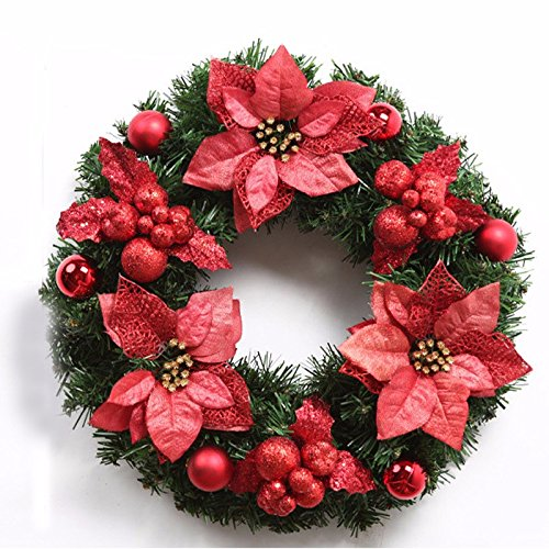 Christmas Garland for Stairs fireplaces Christmas Garland Decoration Xmas Festive Wreath Garland with Christmas wreath,50cm by Caribou Furniture And Decor