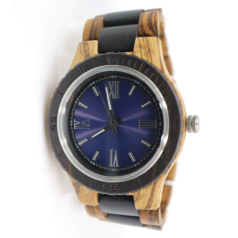 Wood Watches for Men – Minimalist Collection Analog Wooden Wrist Watch with Premium Japanese Quartz Movement – Natural Durable Handcrafted Gift Idea for Him