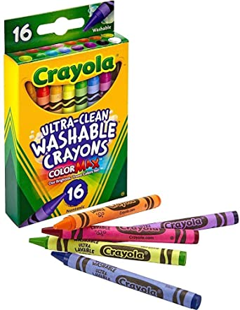 Crayola 526916 - Lápices lavables ultra limpios, regular, 8 colores (caja de 16 ceras): Amazon.es: Industria, empresas y ciencia