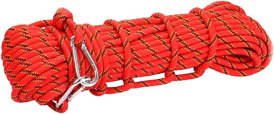 Fortalecer Poliester Cuerda De Escalada Rappel Seguridad Cuerda Auxiliar 10m Roja