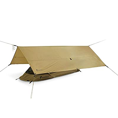 RT Coyote Brown Tactical Rainly System Shelter Tarp: Garden & Outdoor