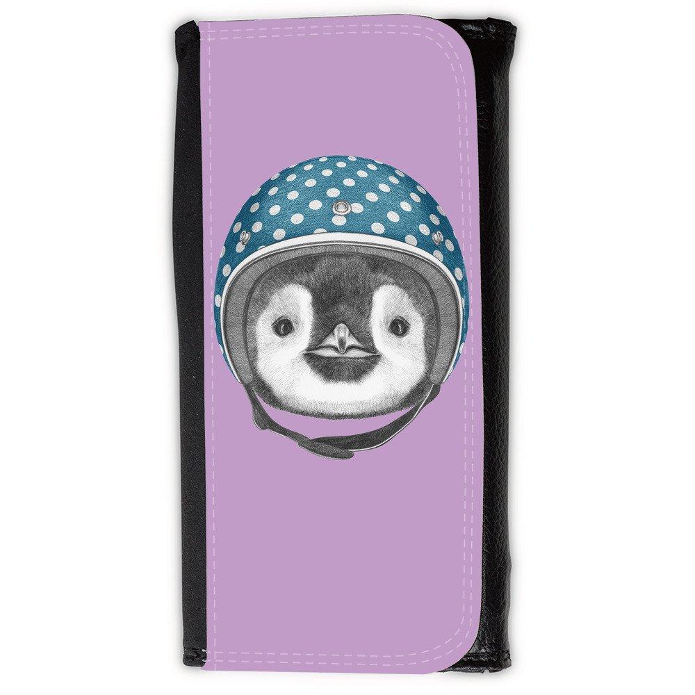 Cartera para hombre // Q05320617 Casco pingüino Ube brillante // Large Size Wallet: Amazon.es: Electrónica