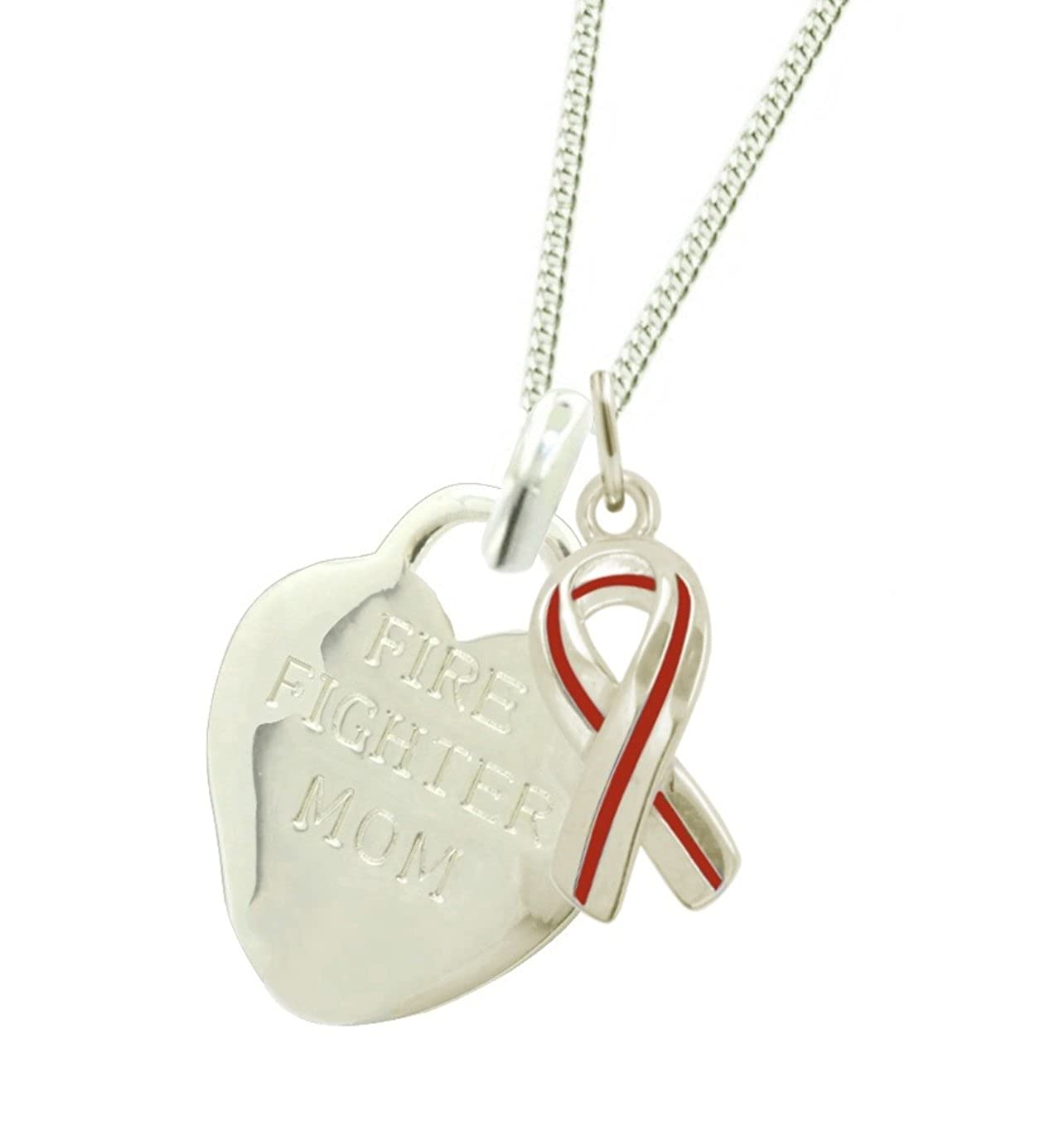 New York 925 /& Co Plated Firefighter Mom Necklace RR