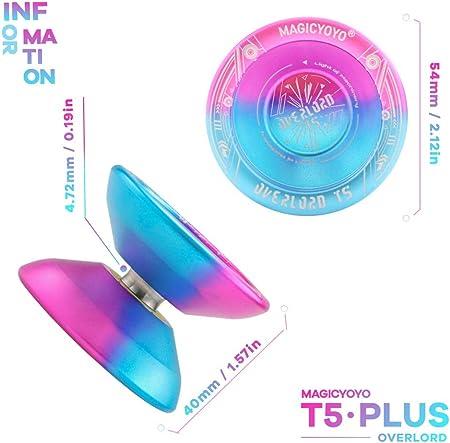 YOSTAR Yoyo Professional Magic YOYO T5 Plus Overlord, Unresponsive Yoyo Balls, Aluminum Alloy Metal …