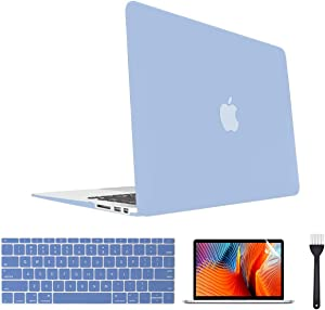 Laptop Case,Plastic MacBook Case,Hard Shell Cover, Keyboard Cover, Screen Protector for MacBook Pro 15 Inch Case 2018 2017 2016 Release A1990/A1707 Touch Bar Models (New Clear Blue)