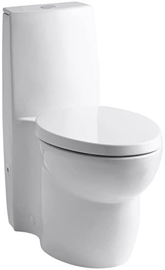 KOHLER K-3564-0 Saile Elongated One-Piece Toilet with Dual Flush ...