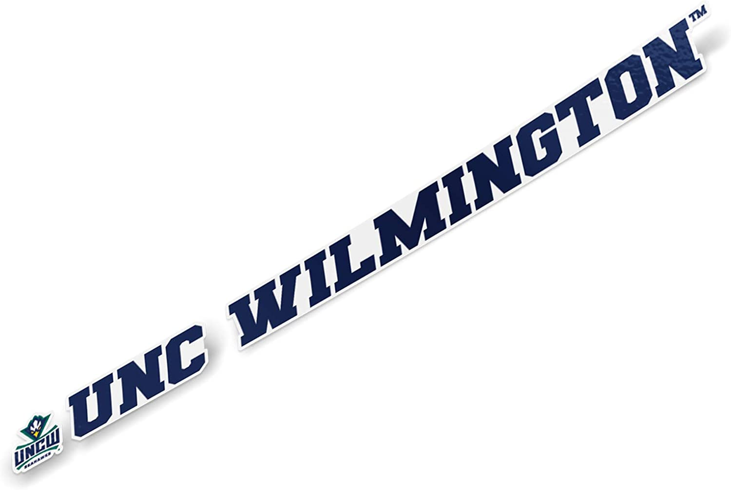 University of North Carolina Wilmington UNCW Seahawks NCAA Name Logo Vinyl Decal Laptop Water Bottle Car Scrapbook (15 Inch Sticker)