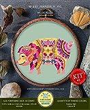 #2: Mandala Pig #K445 Cross Stitch Kit | Funny Animals Stitching | Cross Stitch World | Needlepoint Kits | Cross Pattern | Cross Designs | How to Embroider