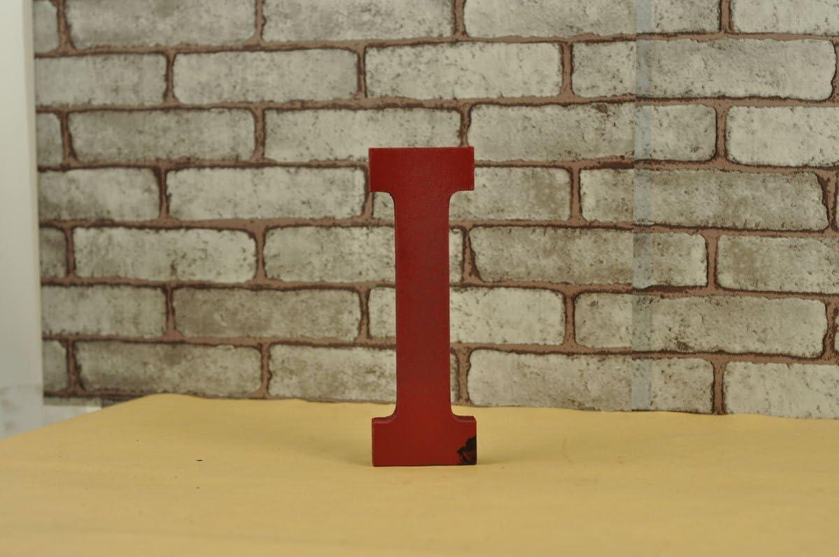 WINGONEER Multi-Color Wood Alphabet Letter Sign Name Kids Room Wedding Nursery Decoration I